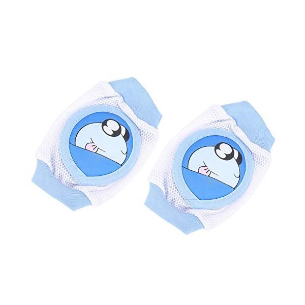 Niños de dibujos animados Almohadilla para la rodilla del bebé Calcetines de gateo transpirables Protector de rodilleras… 3