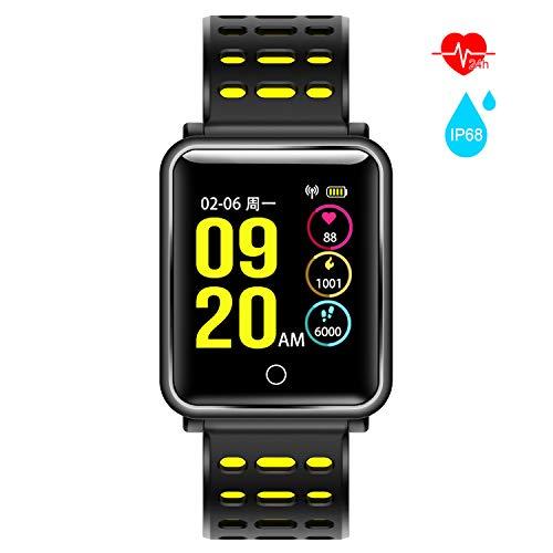 Pulsera Inteligente Deportiva,AURSEN Impermeable IP68 Mujer Hombre Reloj Actividad Inteligente con Monitor de Ritmo Cardíaco,Sueño , Podómetro,Calorías,Recordatorio de Vibración del Mensaje Compatible Android y iOS