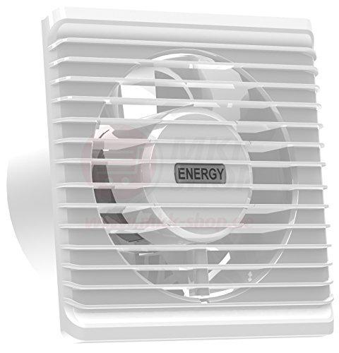 Standard-Abluftventilator 100mm für Bad und Küche mit niedrigem Energieverbrauch, leiser Betrieb (Badezimmer Lüfter Leise)