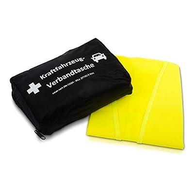 KFZ-Verbandtasche nach aktueller DIN 13164 | wahlweise inkl. Warnweste gemäß EN 471