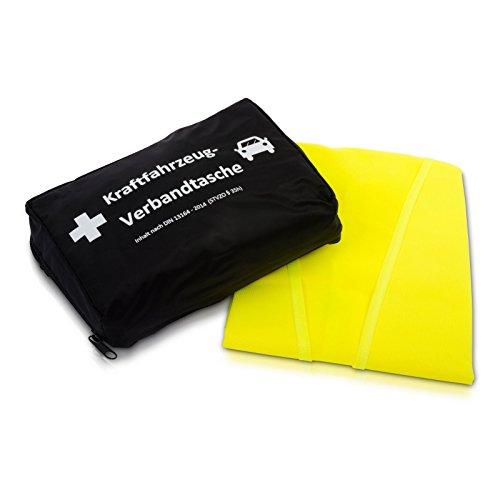 KFZ-Verbandtasche nach aktueller DIN 13164 | inkl. Warnweste gemäß EN 471 -