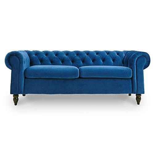 Decoinparis - divano chesterfield a 3 posti, in velluto, colore: winston