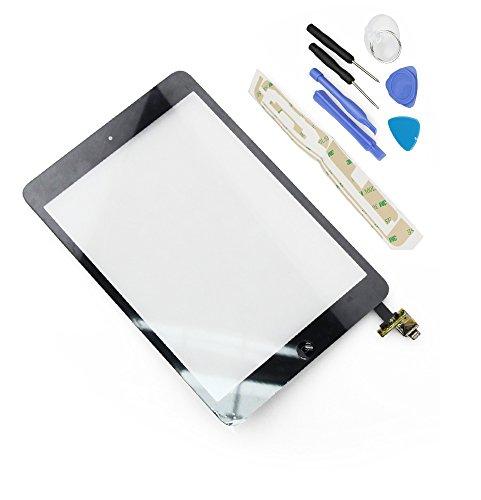 FLY-SHOP-Touch Screen Digitizer Assemblata con Tasto HOME e IC Chip per ipad mini, ipad mini2 + Kit di Riparazione - Nero