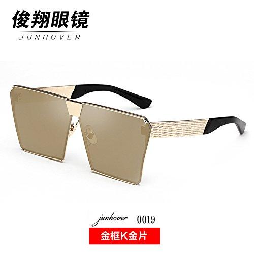 die neuen sonnenbrille weibliche koreanischen star mit langem gesicht bunte gläser frame sonnenbrille persönlichkeit trendsetter moonfaced,gold box goldrand