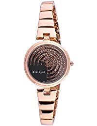 Giordano Analog Black Dial Women's Watch-C2196-22
