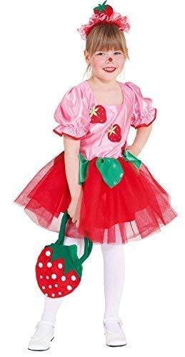 Fancy Me Mädchen niedlich Erdbeere Cupcake Frucht Spaß Welttag des buches-Tage-Woche Kostüm Kleid Outfit - Multi, 6-8 Years ()
