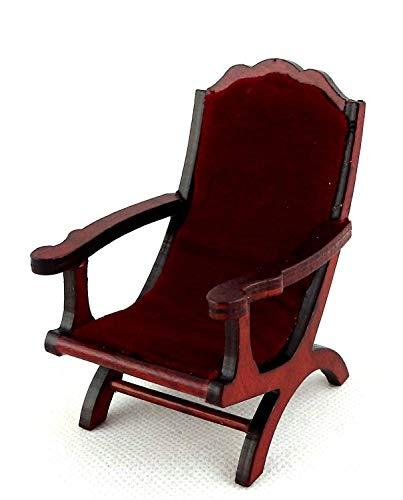 Melody Jane Puppenhaus Eiche Dunkel Rot Campeachy Sessel Stuhl 1:12 Wohnzimmer Möbel - Handwerker Wohnzimmer Stuhl