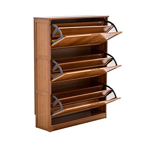 Liudan scaffale di stoccaggio a conchiglia multifunzione a cassettiera in legno marrone scuro con grande capacità per il corridoio d'ingresso (dimensione : s)