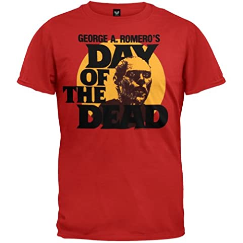 Day of the Dead - Mens Circle Portrait T-shirt - X-Large Red