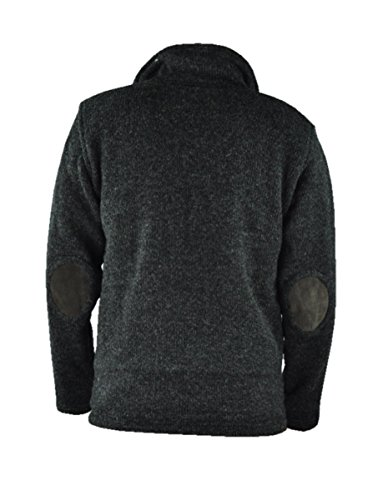 virblatt gefütterte Herren Wolljacke mit Ellenbogenpads und Baumwoll-Innenfutter in S, M, L, XL Übergangsjacke mit hohem Kragen für den Herbst 100 % Naturwolle