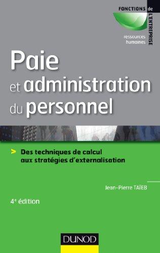 Paie et administration du personnel