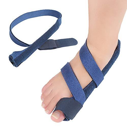 LLDY Hallux Valgus Zehenspreizer große Zehe Cyst Fußpflege Werkzeug Drift Pain Relief Einfache Fixierung mit Klettverschluss und großer Zehenkorrektur mit Bigfoot-Knochensplitter, Tag und Nacht -
