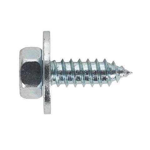 Sealey Asw14Acme Vis avec rondelle M14x 3/10,2cm Zinc BS 7976/6903/B Lot de 100