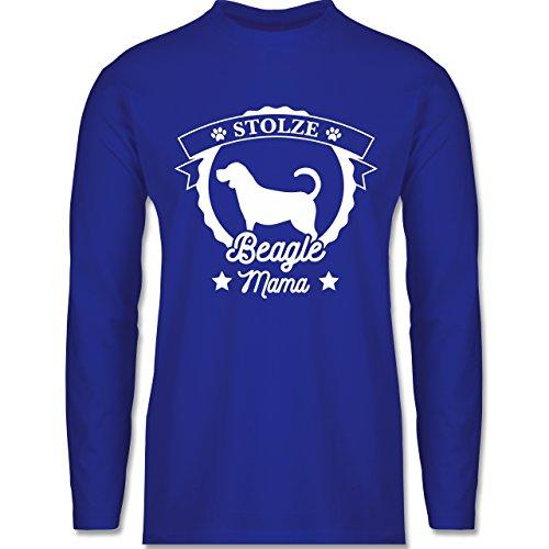 Shirtracer Hunde - Stolze Beagle Mama - Herren Langarmshirt Royalblau