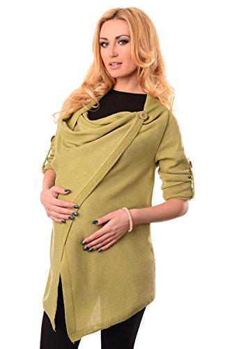 Purpless Maternity Modern Schwangerschaft Jacke Tragen 9005 Pistachio