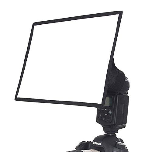 """CamRepublic® Professional Universal Softbox Speedlite Speedlight Heißschuh Blitz Diffusor für Blitzgeräte, Universal Halterung für Canon Nikon Sony Pentax Nissin Metz Sigma EOS Kamera 6.5X6 \"""""""