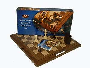 Traditional Games The Juego Completo de ajedrez (J568) Importado de Inglaterra