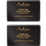 Shea Moisture African Black Soap Bar, 3,5 Oz, Inhalt: 2 Stück