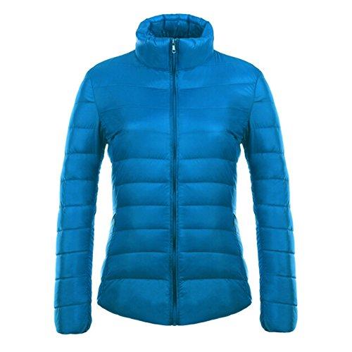 Femme Veste Manteau dhiver Veste en duvet Veste de ski à capuche Manteau dhiver Veste légère et chaude vêtements dextérieur 12 couleurs S-3XL Kootk Bleu