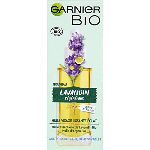Garnier - Aceite facial alisador brillante, aceite esencial de lavanda orgánico, 30 ml, lote de 2 unidades