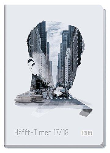 Preisvergleich Produktbild Häfft-Timer A5 2017/2018 [City Feelings] Fadenheftung, Hardcover, runde Ecken, Schülerkalender/Studentenkalender/Semesterplaner, August 2017 - Juli 2018