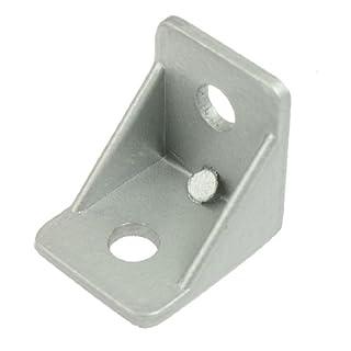 sourcing map Winkel Haltewinkel Silber Ton Metall Winkelverbinder 90 Grad 30mm x 30mm