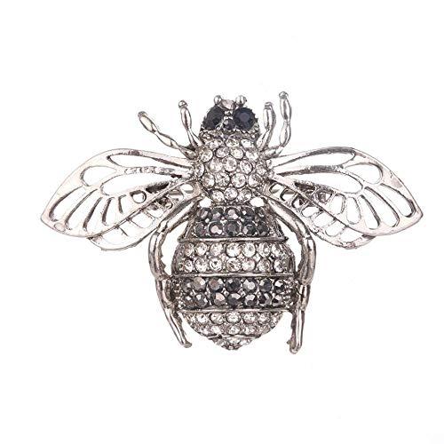 Olydmsky Brosche Diamant Bee Brosche Fashion hundert Damen Schal Schnalle Tier Corsage - Damen Fashion Schnallen
