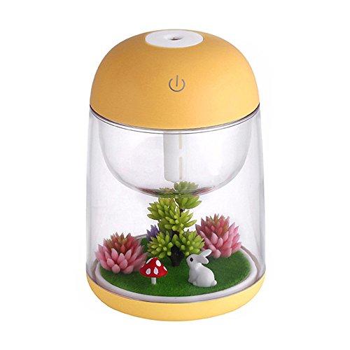 Nrpfell Humidificador de Aire micropaisaje para bebeRegalo Creativo de Oficina casa Difusor de Aroma de Aceite Esencial con luz LED de Cambio