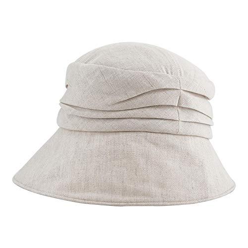 GJPSXTY Atmungsaktiver und bequemer Fischerhut Visier Cooler Hut Sonnencreme Hut weicher Stoff Faltbarer Sonnenhut, 55-58cm, beige -