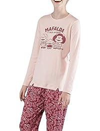 GISELA - Pijama Mafalda Mujer Color: Rosa Talla: Large