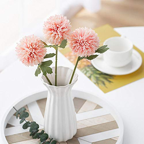 WEFLOWERSEinzelkopf Kunstblume Einzelkopf Kunstblume Löwenzahn Bällchen Chrysantheme Kunstblume Wohnzimmer Topfblumengesteck kleine stachelige Kugel Tischtennis
