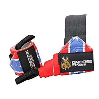 Wrist Wraps by DMoose Fitness - Premium Quality, Strong Velcro, Thumb Loops - Maximize Your Weightlifting, Powerlifting, Bodybuilding, Strength Training & CrossFit (American II, 12 Inches)
