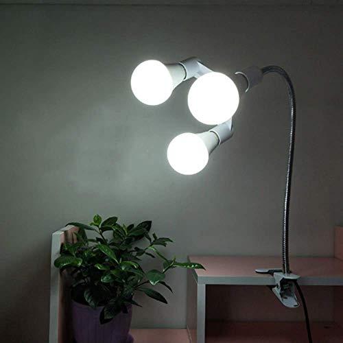 halts-Schreibtischlampe, Clip-Licht DREI Scheinwerfer Led-Licht Nachttischlampe Schlafzimmerlicht Nachtlicht Leseleuchte Make-up-Licht Live-Licht Abstimmlicht Augenschutz Einstell ()