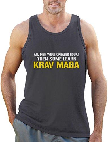 Krav Maga - Geschenk - All men were created equal Tank Top Dunkelgrau