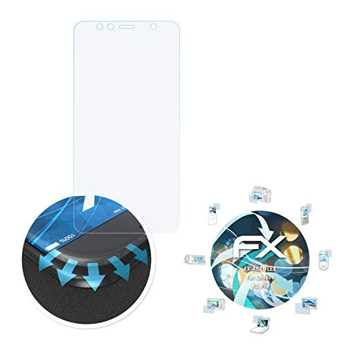 atFolix Schutzfolie passend für Lenovo K5 Pro Folie, ultraklare & Flexible FX Bildschirmschutzfolie (3X)