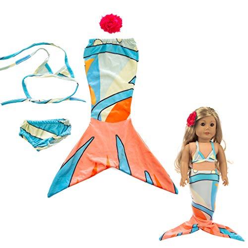 6366ee5c022 TT Maillot de Bain Trois pièces Mignon Vêtements Fille Jouet pour 18 Pouces  poupée Accessoire Fille Jouet