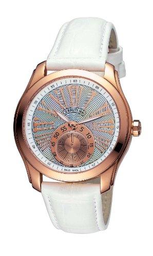 Cerruti TRADIZIONE CLASSICO LADY 4391969 - Reloj de mujer de cuarzo, correa de piel color blanco