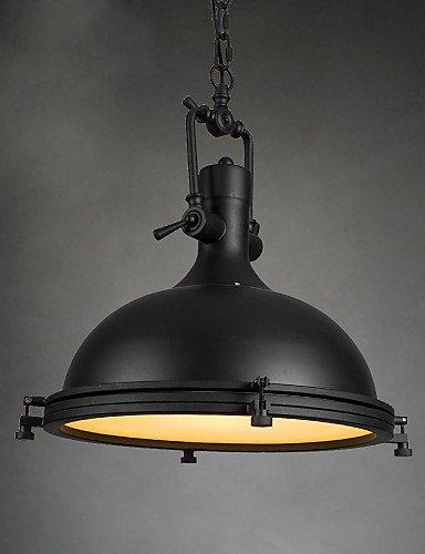 Illuminazione jiaily singolo industriale Ciondolo lampada per Bar Sala caffè decorare in stile loft Vintage caduta in metallo leggero , 220-240v-argento - Caduta Pendenti Una Luce
