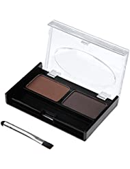 2 Colours Makeup Eyebrow Powder Waterproof Palette Kit with Brush Beauty Cosmetics