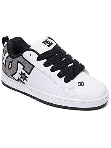 DC Shoes Court Graffik Se, Sneakers Basses Homme White / Heather Grey