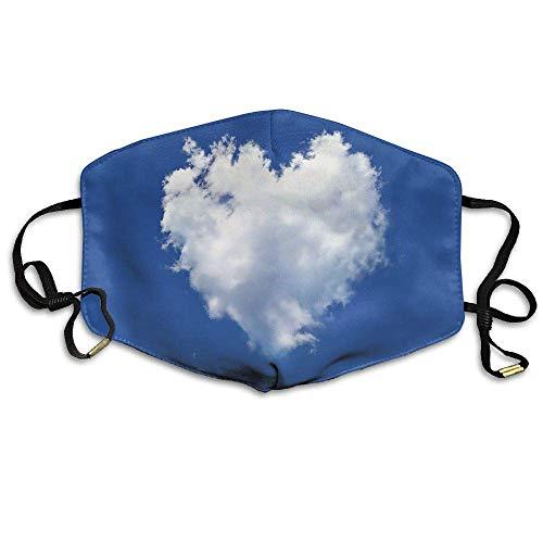 Daawqee Staubschutzmasken, Cloud Love Mask Unisex Fashion Antidust Face Mouth Mask Muffle Flu Surgical Washable Warm Reusable Ski Cycling Mask (Royal Herren Maske)