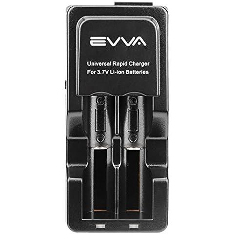 NEW EVVA universale 18650185001634014500carica batterie + caricabatteria da