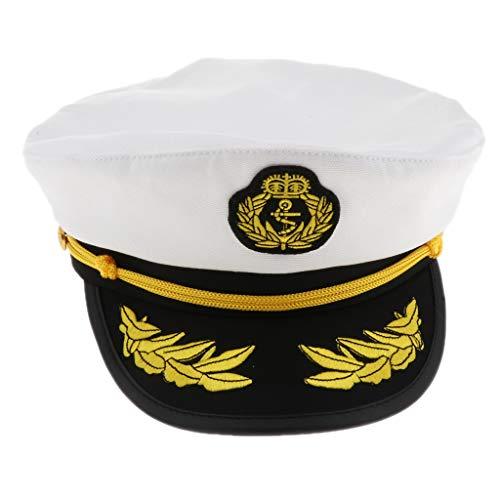 Erwachsene Sailor Kostüm Captain Für - P Prettyia Herren Damen Matrosenmütze Kapitän Kostüm Captain Sailor Marine Cosplay Verkleidung für Fasching Karneval Halloween - 02
