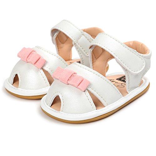 Igemy 1Paar Baby Mädchen Sandalen Casual Schuhe Sneaker Anti-Rutsch Soft Sole Kleinkind Silber
