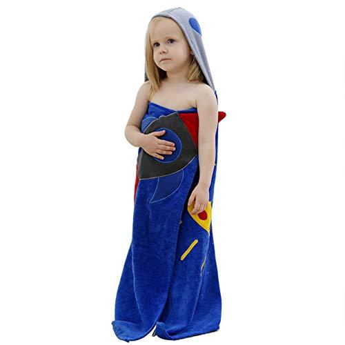 ZEMER Rocket Baby Kapuzen Badetuch - Weiche Baumwollbadset Für Mädchen Jungen Plüsch Und Saugfähige Luxus Badezimmertücher -