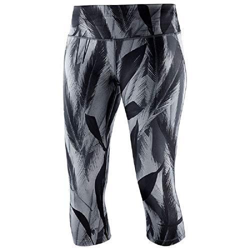 SALOMON Damen Agile Mid Tight 3/4 Lauf-Leggings, Black, M -
