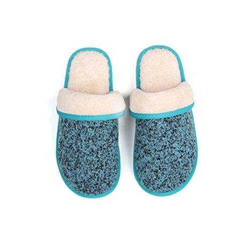 Mhgao Home pantofole donna Leisure morbido interno casa pantofole Blue