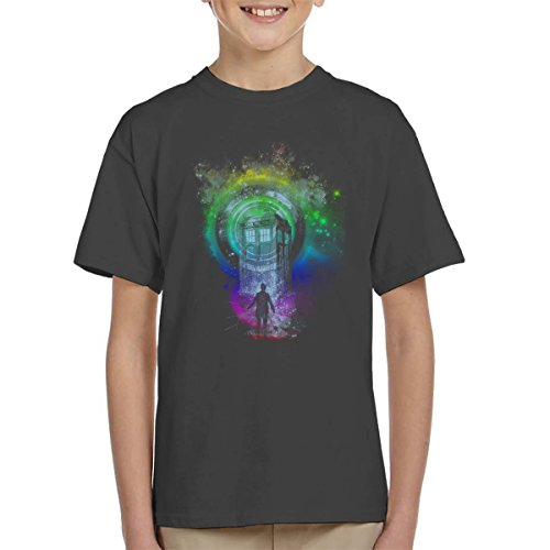 Doctor Who Master Of Ceremony Rainbow Kid's T-Shirt