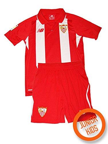 New Balance Sevilla FC Segunda Equipación 15-16 Niño, Conjunto, Red-White, Talla SB