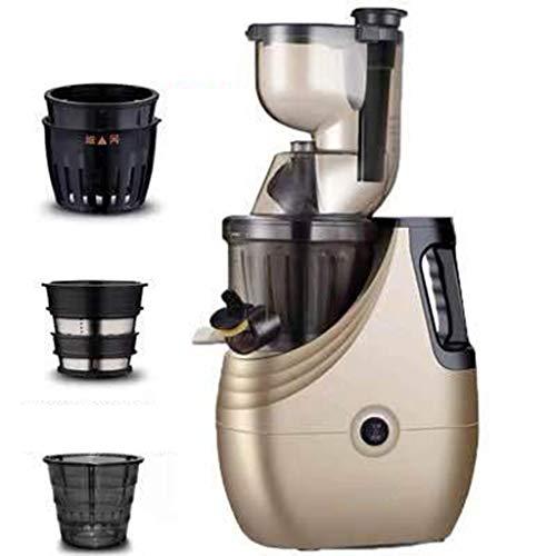Entsafter JION Kauen Saftpresse leise 150 Watt Motor / 43 U/min, 3,3 Zoll breite Schieber grün/Obst/Gemüsesaftpresse, leicht zu reinigen und erschwinglich ohne BPA